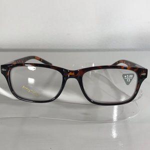 Reading Glasses Brown Tortoise Wayfarer square 3.0